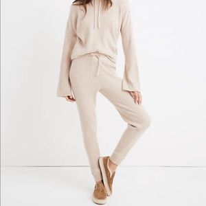 Madewell 100% Cashmere Ribbed Jogger Pant